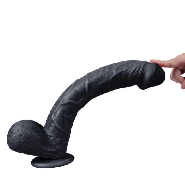 Supre 33 Cm Büyük Boy Belden Bağlamalı Realistik Zenci Penis