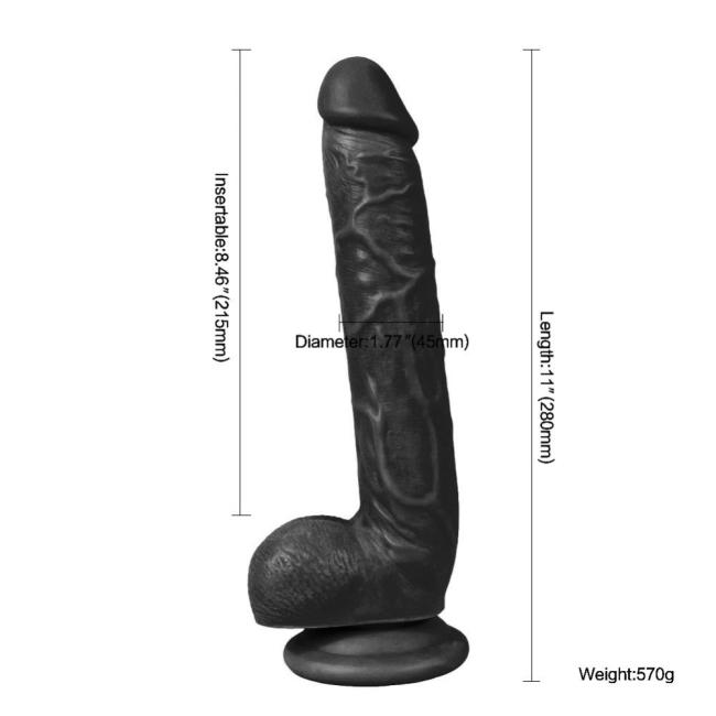 Dildo Series Optimus 26 Cm Belden Bağlamalı Zenci Penis