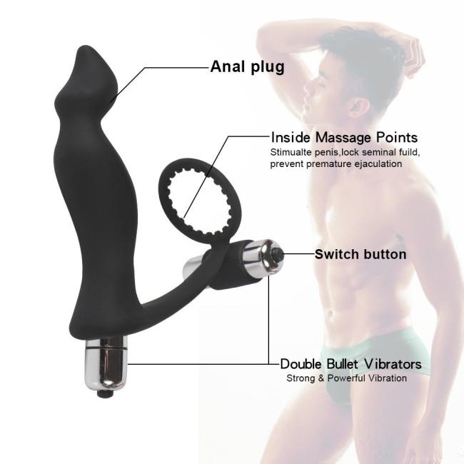 Krell Çift Motorlu Prostat Vibratör ve Penis Halkası