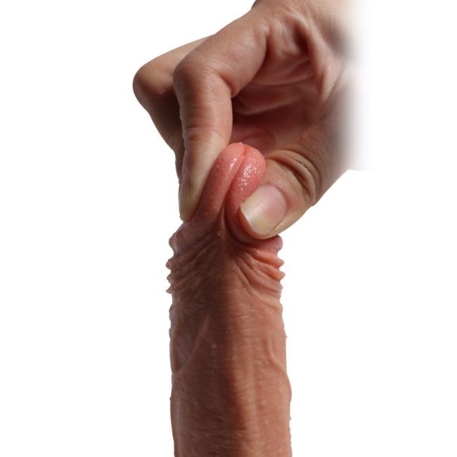 18 Cm Ekstra Yumuşak Çift Katmanlı Özel Silikon Dokuda Realistik Penis