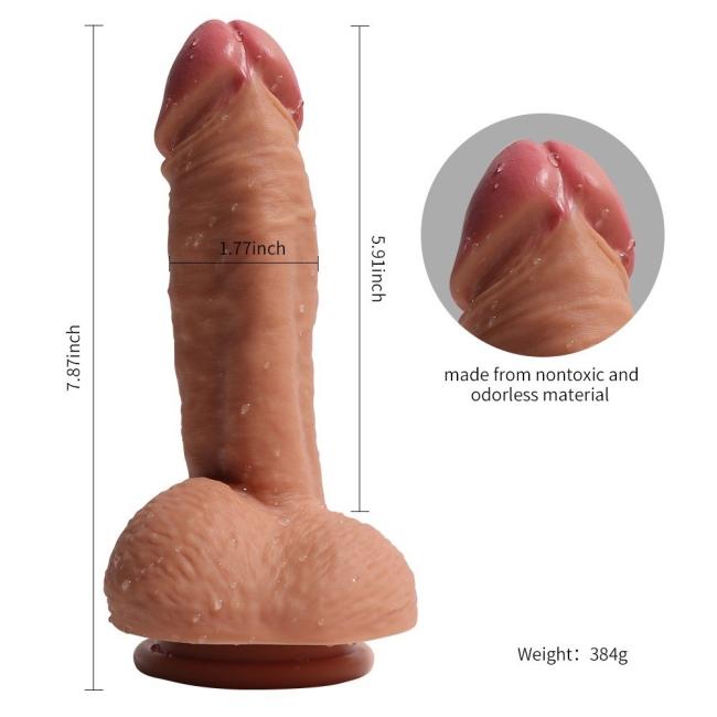 19 Cm Ekstra Yumuşak Çift Katmanlı Özel Silikon Dokuda Belden Bağlamalı Penis