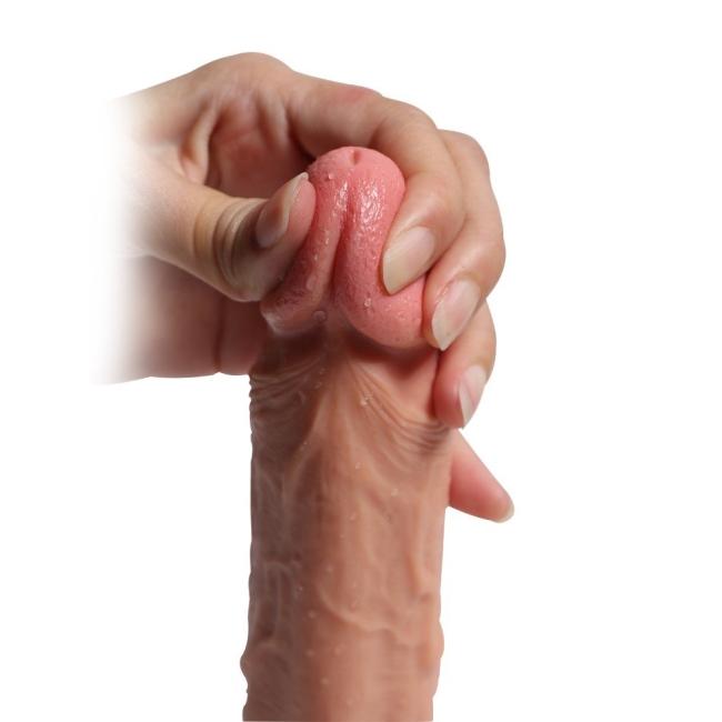 21 Cm Ekstra Yumuşak Çift Katmanlı Özel Silikon Dokuda Belden Bağlamalı Penis