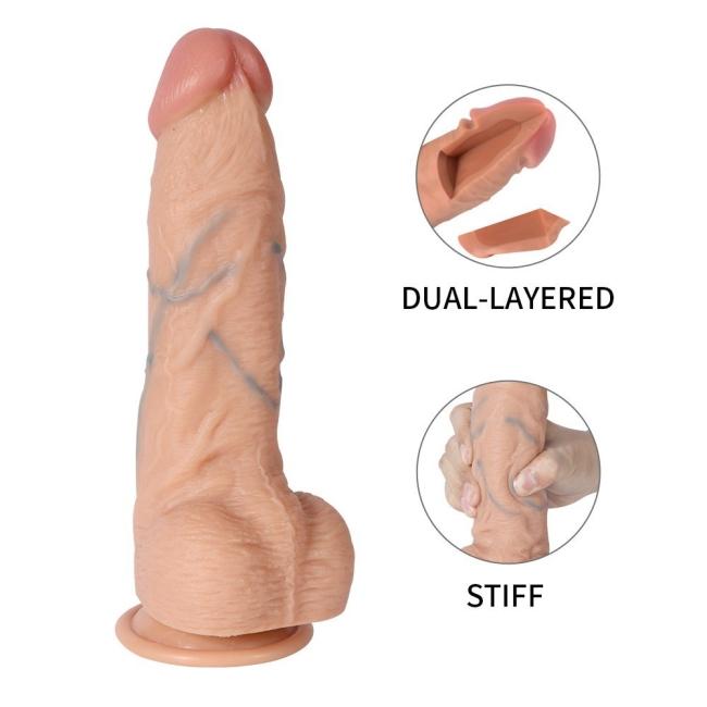 Berton Ultra Gerçekçi Yumuşak Çift Katmanlı 23 Cm Realistik Penis