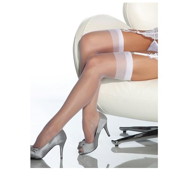 Beyaz Dantelsiz Jartiyer Çorabı Beyaz Standart