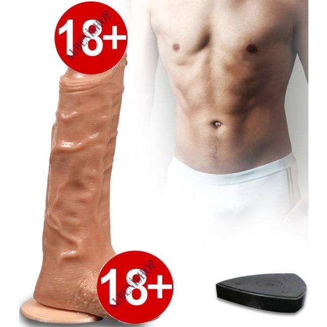 Bronte Oynar Başlı Kumandalı Şarjlı ve 20 Titreşim Modlu Realistik Penis