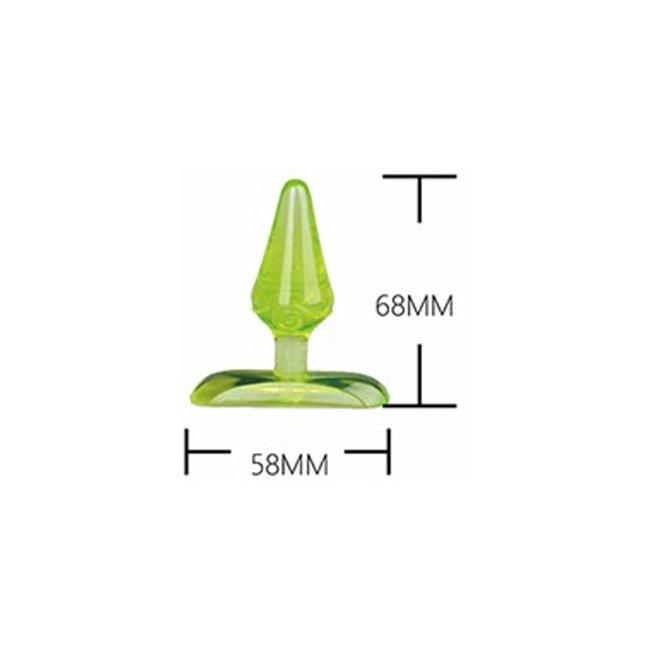 Cnw Jel Dokulu Mini Anal Plug-Yeşil
