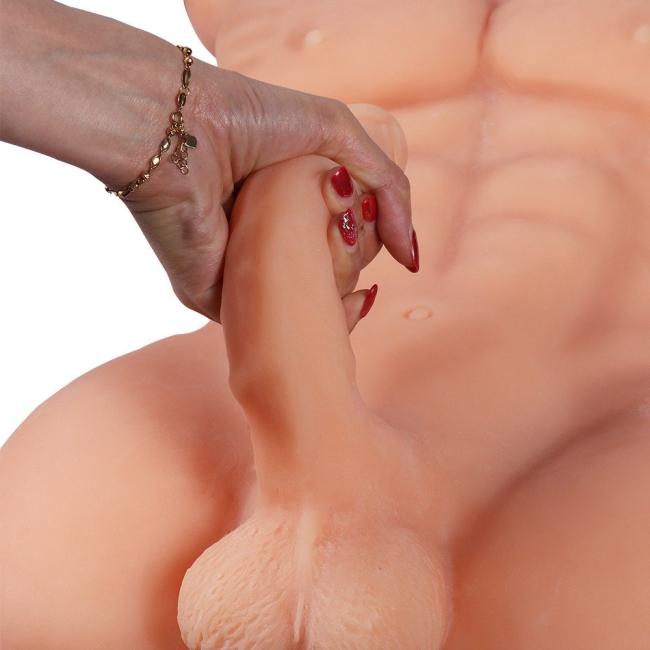 Daniel Yarım Vücut Realistik Kıkırdaklı Penisli Erkek Mastürbatör