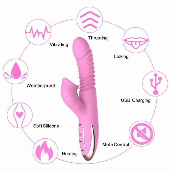 Db Angellia İleri Geri Dönebilen Klitorise Özel Titreşime Sahip Vibratör