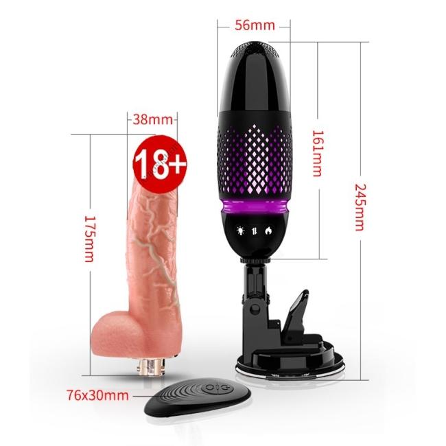 Db Kumandalı Vantuzlu Hareketli Vibratör Seks Makinesi