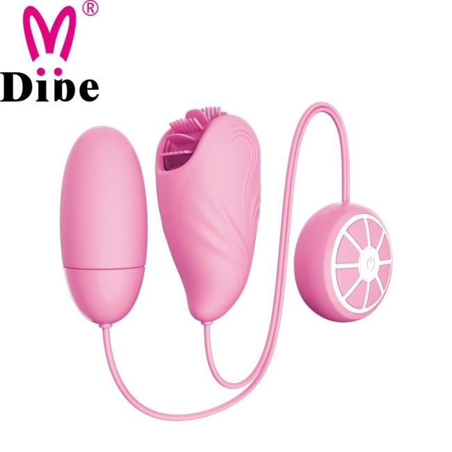 Dibe 7 Modlu Dönebilen Klitoris Uyarıcı Dil ve Titreşimli Çiftli Mini Vibratör