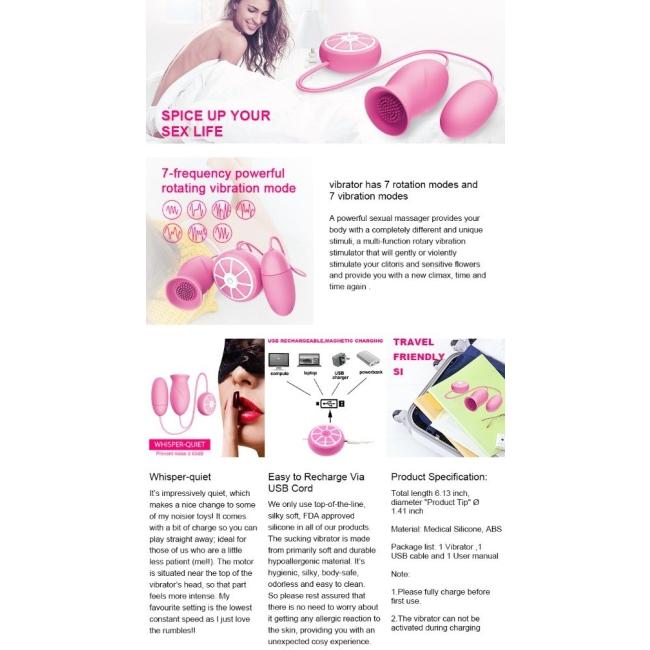 Dibe Usb Şarjlı 7 Modlu Titreşimli Çok Amaçlı Çift Mini Vibratör