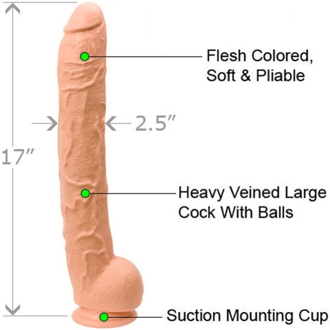 Doc Johnson Dick Rambone 43 Cm Özel Dev Realistik Penis Made İn USA