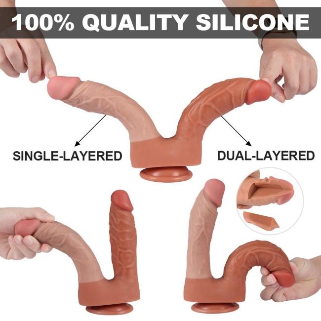 Dildo Series 21 Cm Yumuşak Esnek Realistik Double Penis