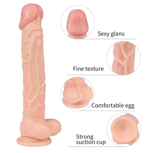 Dildo Series Knight 25 Cm Belden Bağlamalı Dev Penis