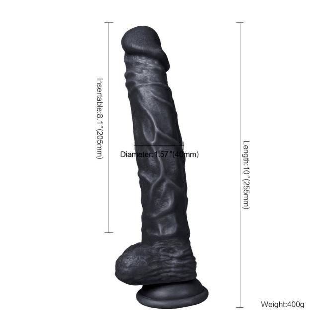 Dildo Series Knight 25 Cm Realistik Dev Belden Bağlamalı Zenci Penis