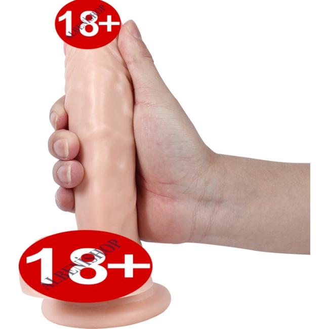 Dildo Series Magic 21 Cm Belden Bağlamalı Esnek Bükülebilir Realistik Penis
