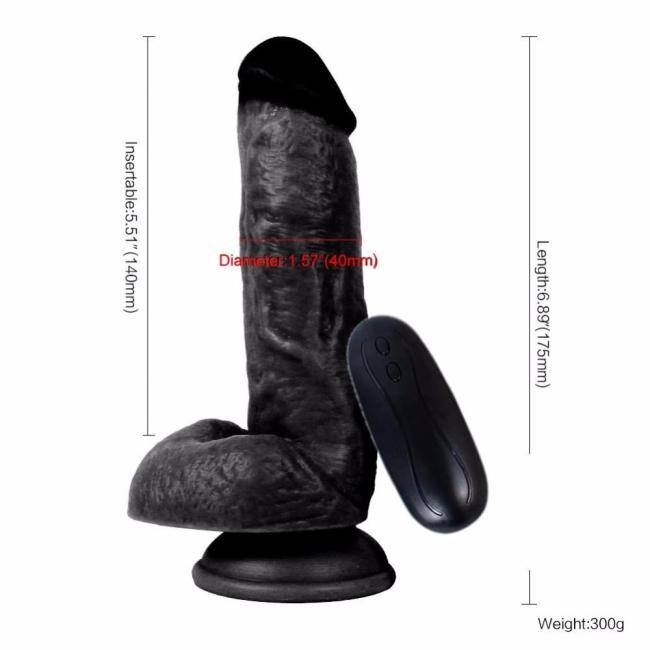 Dildo Series Siyah 15 Cm 10 Modlu Titreşimli Realistik Penis