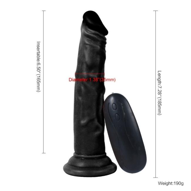 Dildo Series Siyah Naruto 19 Cm Titreşimli Belden Bağlamalı Realistik Penis