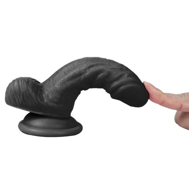 Dildo Series Siyah Vincy 13 Cm  Kullanılabilen Realistik Penis