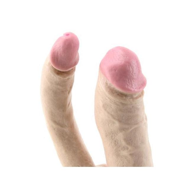 Doc Jonhson Doğal Çift Taraflı Realistik Kemerli Çift Başlı Penis Made İn USA