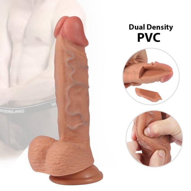 Ekstra Yumuşak Çift Katmanlı Et Dokulu Realistik 21 Cm Kemerli Penis