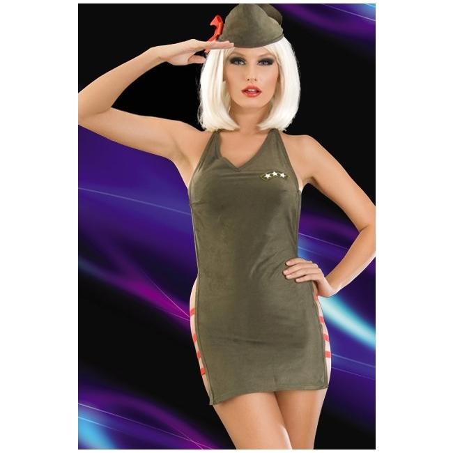 Fantezi Kadın Asker Kostümü