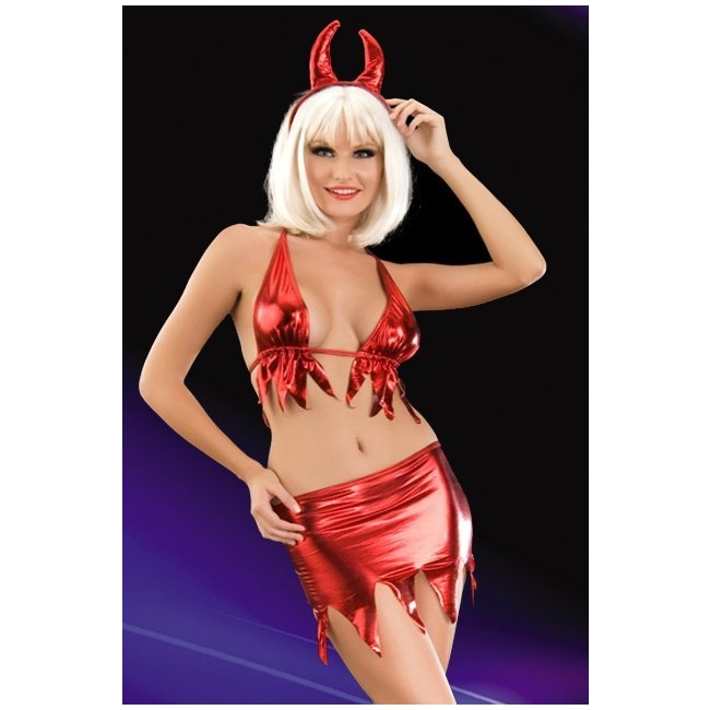 Fantezi Kırmızı Şeytan Kostümü