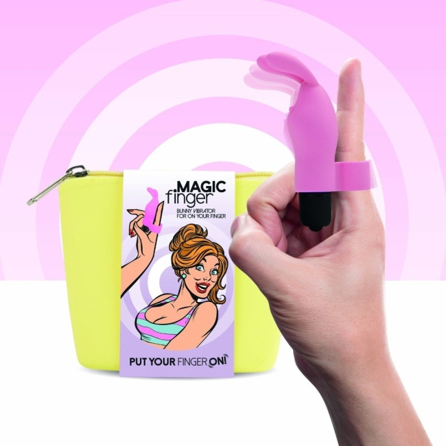 FeelzToys Magic Finger Parmak Vibratörü Mor