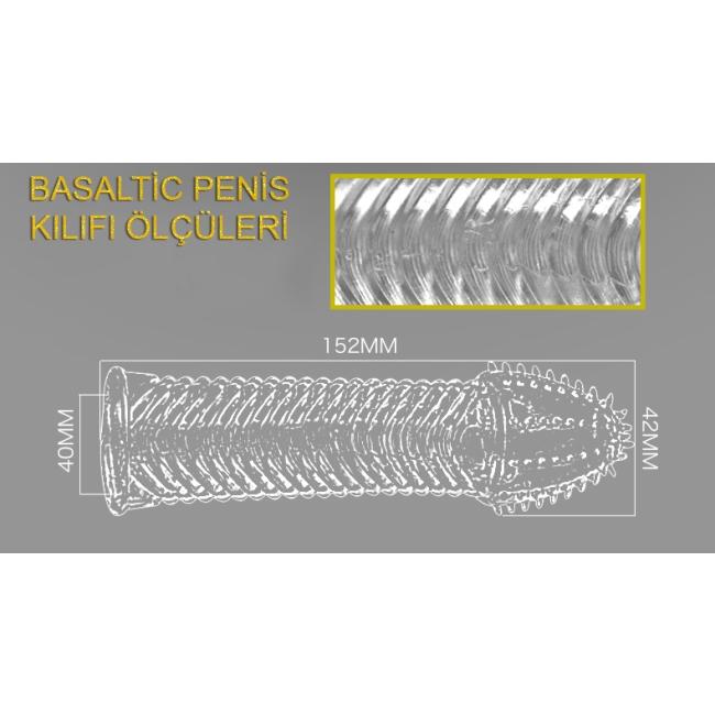 FH Basaltic Uc Kısmı Tırtıklı Kalan Yüzeyi Dalgalı Tırtıklı Penis Kılıfı