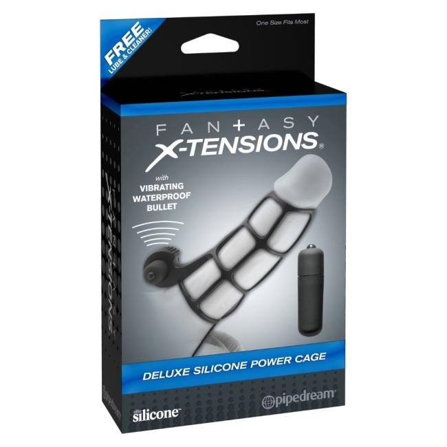 FX Extreme Silicone Power Cage Klitoris Uyarıcı Titreşimli Silikon Penis Kafesi Kılıfı