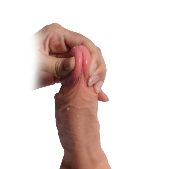 Hercul 22 cm Extra Gerçekçi Çift Katmanlı Realistik Penis