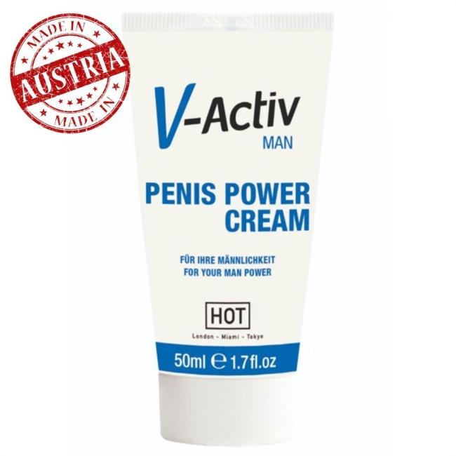 Hot V-Activ Erkeklere Özel 50 Ml Krem Made İn Austria