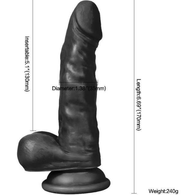 Hunk Eagle 17 cm Zenci Realistik Penis