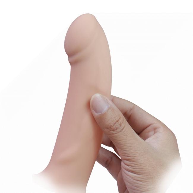 İçi Boş Yumuşak Dokulu 17 Cm İçi Boş Realistik Kemerli Penis