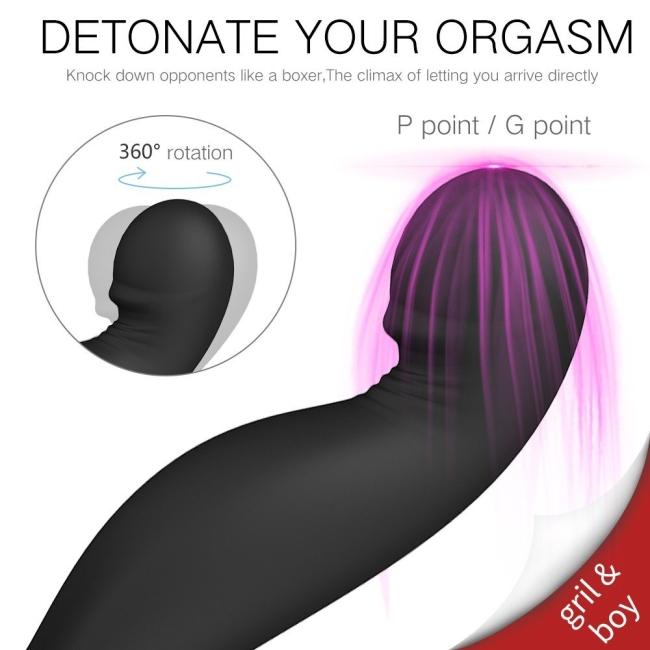 Jiggle-Rct Prostat ve G-Spot Uyarıcı Kafası Dönebilen Kumandalı Lüks Vibratör