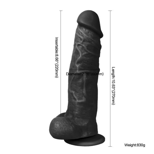 Had King 27 Cm Damarlı Dev Realistik Belden Bağlamalı Zenci Penis