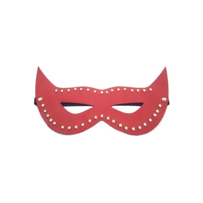 Kırmızı Deri Göz Maskesi