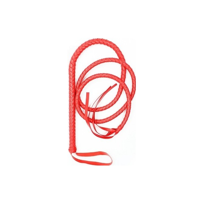 Kırmızı Uzun Deri Kırbaç