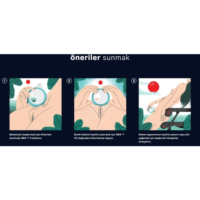 Lelo Ora 3 Aqua Teknolojik Oral Zevk Vibratörü