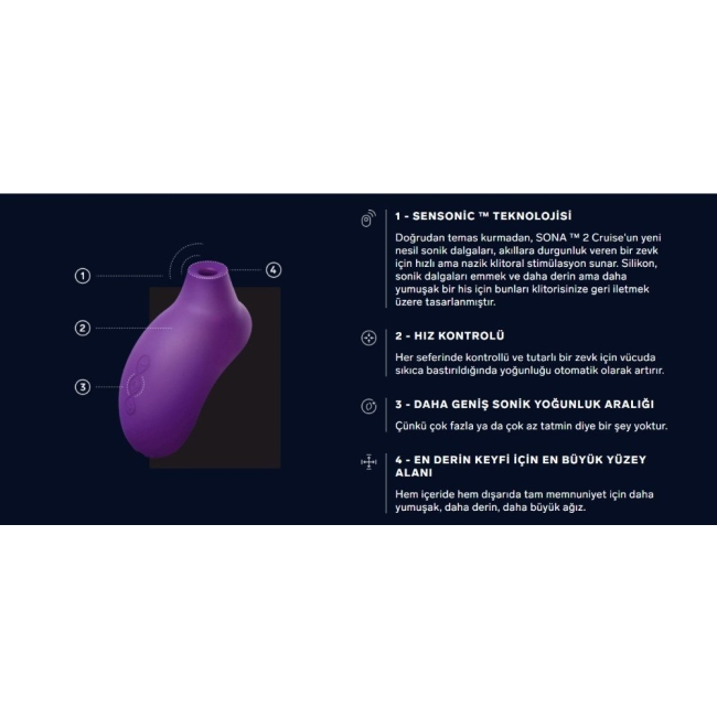 Lelo Sona 2 Sonic Klitoral Orgazm Vibratörü