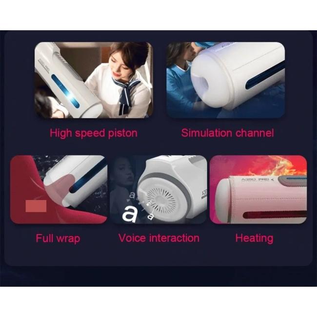 Leten A380 Pro Otomatik 10 Modlu İleri Geri Hareketli Sesli ve Isınabilen Mastürbatör