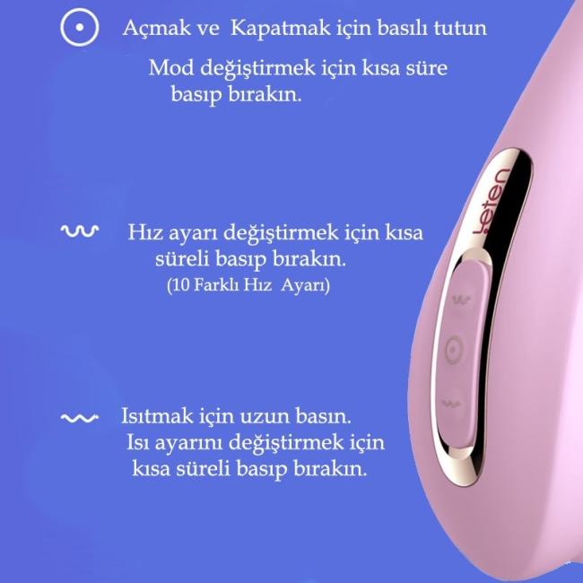 Leten Dil ve Emiş Yapabilen Çift Yönlü Harika Vibratör