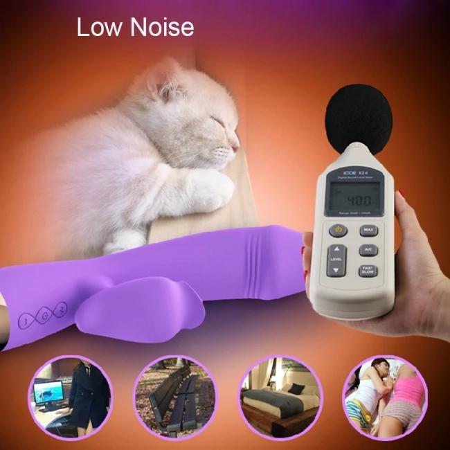 Leten G-Spot ve Klitoris Uyarıcı 7 Modlu Titreşimli Dil Hareketi Yapabilen Mor Vibratör