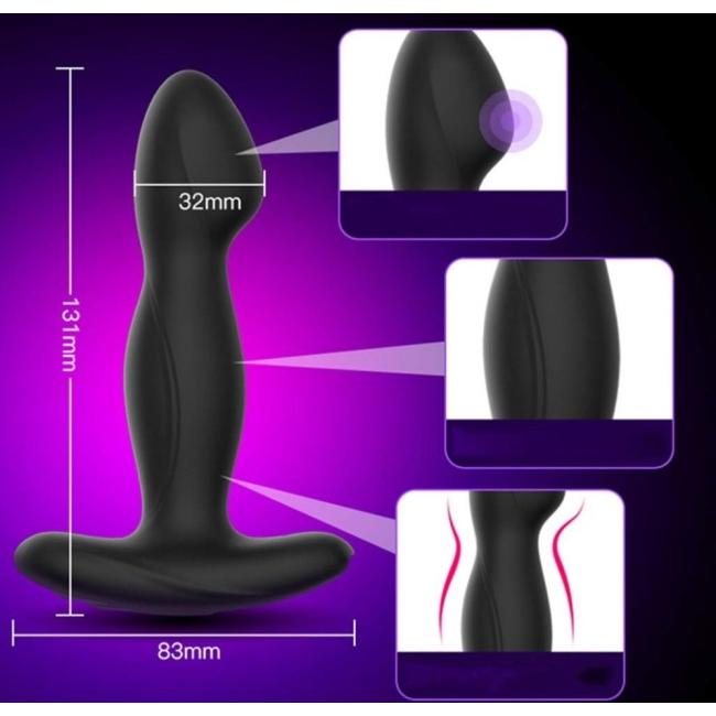 Leten Flash Elektiriksel Uyarım G-spot ve Prostat Anal Plug
