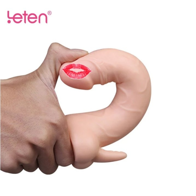 Leten Ultra Yumuşak Kıkırdaklı Şarjlı Klitoris Uyarıcı Titreşimli Realistik Vibratör
