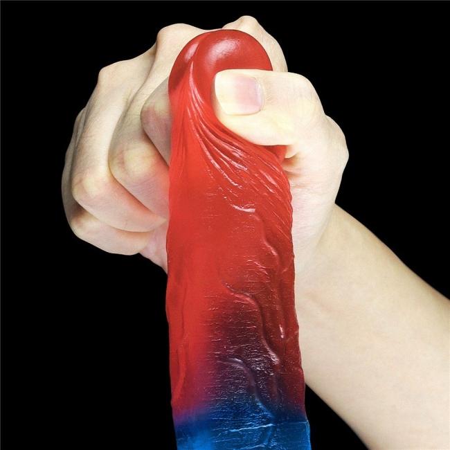 Love Toy Çift Renkli Ultra Yumuşak 17 Cm Jel Dildo