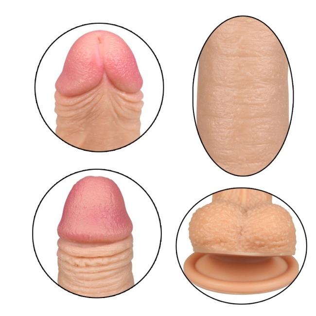 Love Toy Nature Cock Serisi Özel Çift Katmanlı 18 cm Realistik Penis