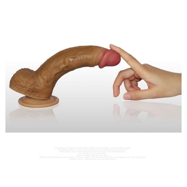 Love Toy Nature Cock Serisi Özel Çift Katmanlı 21 Cm Realistik Penis