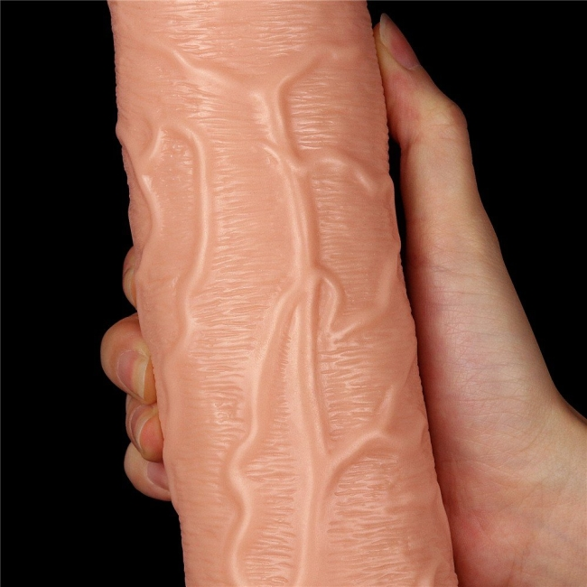 Love Toy 28 Cm 10 Modlu Titreşimli Ultra Kalın Realistik Penis