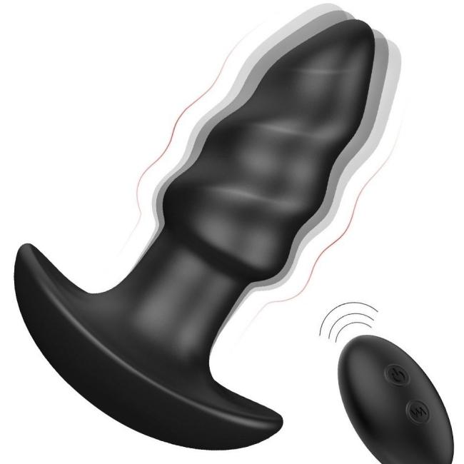 Lovearrow-Rct Kumandalı Boğumlu Silikon Gövdeli Titreşimli Anal Plug